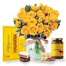 Contagiar de Rosas Amarelas com Delícias Havanna