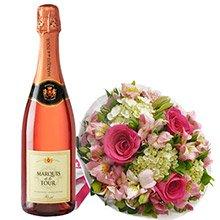 Buquê Carinho de Rosas Pink & Marquis De La Tour Rosê