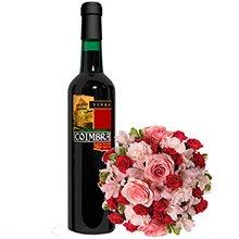 Mix de Flores Rosa & Vinho Coimbra Tinto Seco
