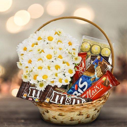Cesta de Chocolates para o Dia da Mulher