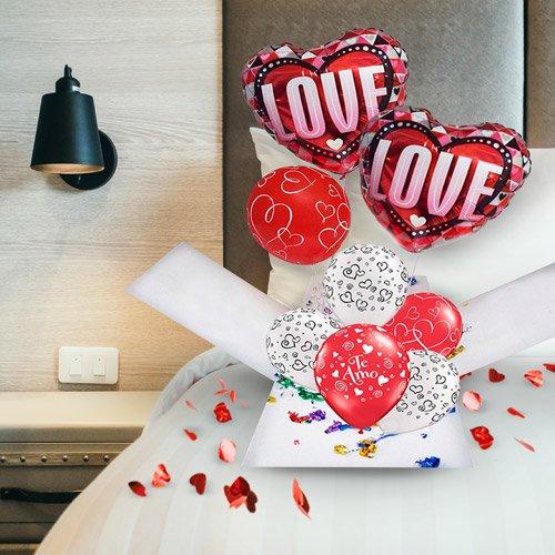 Balões Love para declaração de amor