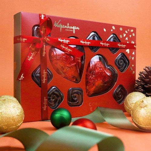 Caixa bombons chocolates de coração