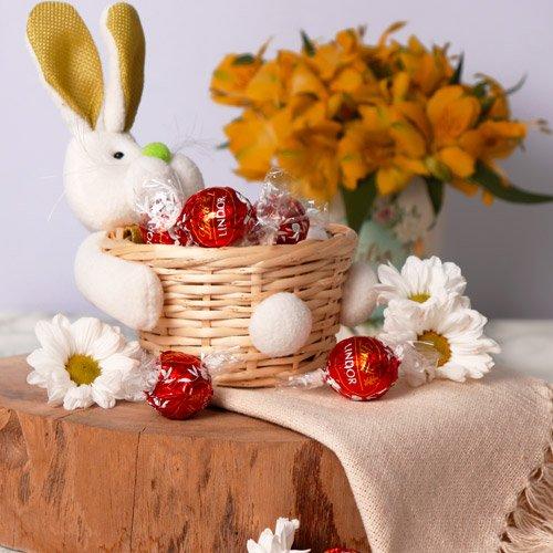 Kit coelhinho com ovos de chocolate