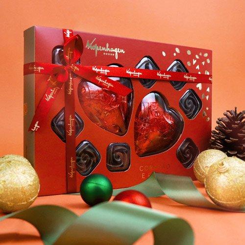Caixa de bombons kopenhagen em formato de coração