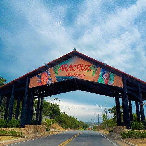 Pórtico de entrada em Aracruz