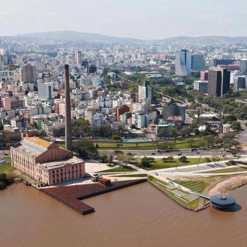 Porto Alegre vista do Rio Gauíba