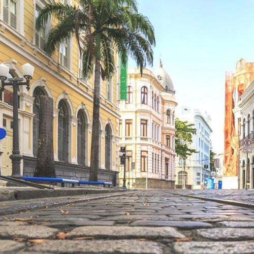Principal rua do Recife Antigo