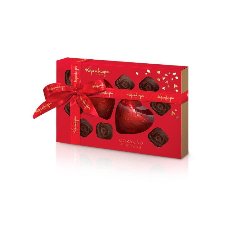 Corações e Rosas De Chocolate Kopenhagen 280g