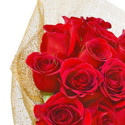 Buquê Fascínio de Rosas Colombianas Vermelhas