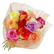 Buquê de 12 Rosas Colombianas Coloridas