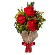 Arranjo 3 Lindas Rosas Vermelhas