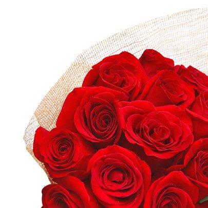 Buquê Esplêndido de Rosas Colombianas Vermelhas