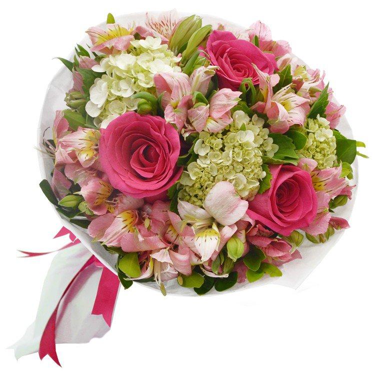 Buquê Carinho de Rosas Pink