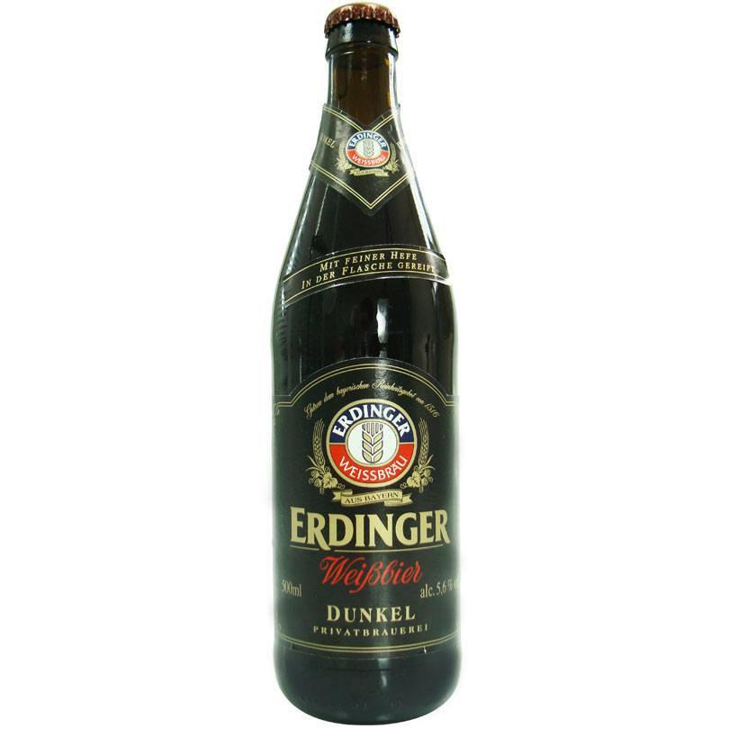 Cerveja Erdinger Dunkel (escura) 500 ml