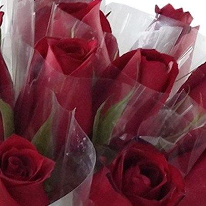 20 Rosas Vermelhas Avulsas Em Celofane