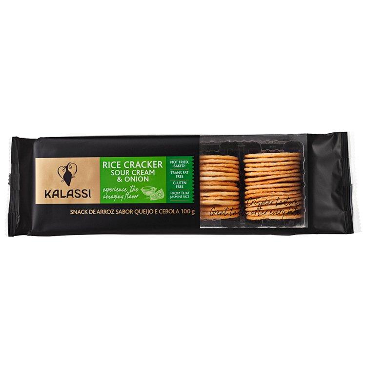 Snack Tai Kalassi Rice Crackers Sour Cream & Onion 100G