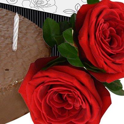 Parabéns com Rosas Vermelhas
