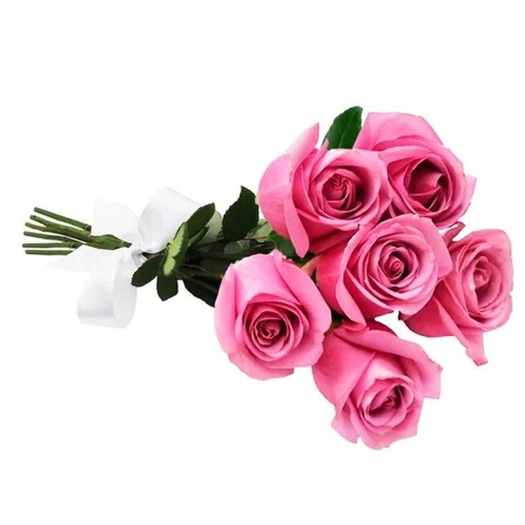 Buquê de 6 Rosas Lilás