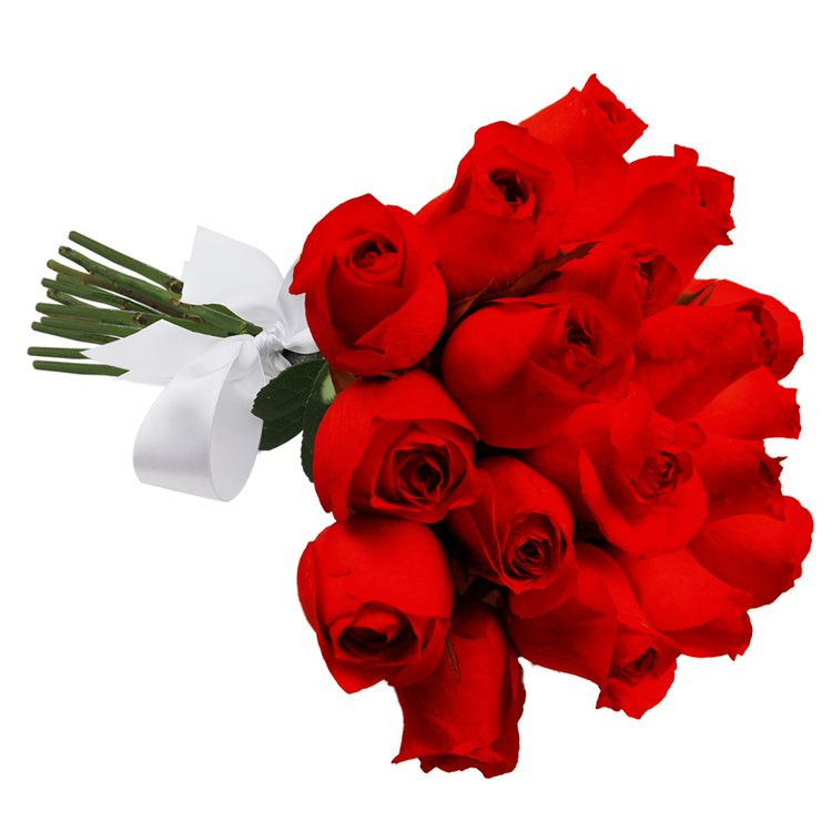Buquê de 18 Rosas Vermelhas