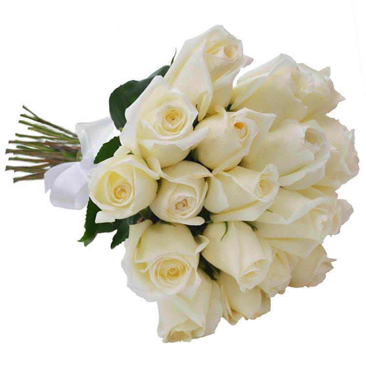 Buquê de Rosas 24 Brancas