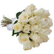 Buquê de 24 Rosas Brancas