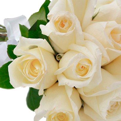 Buquê de 18 Rosas Brancas
