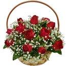 Cesta de 12 Rosas Vermelhas
