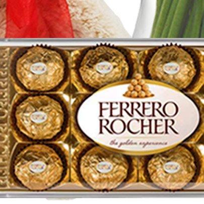 Astromélias Coloridas com Pelúcia, Espumante e Chocolate