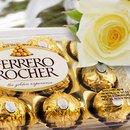 Buquê de 7 Rosas Brancas com Ferrero Rocher