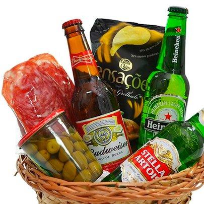 Cesta Perfeita de Cervejas e Aperitivos