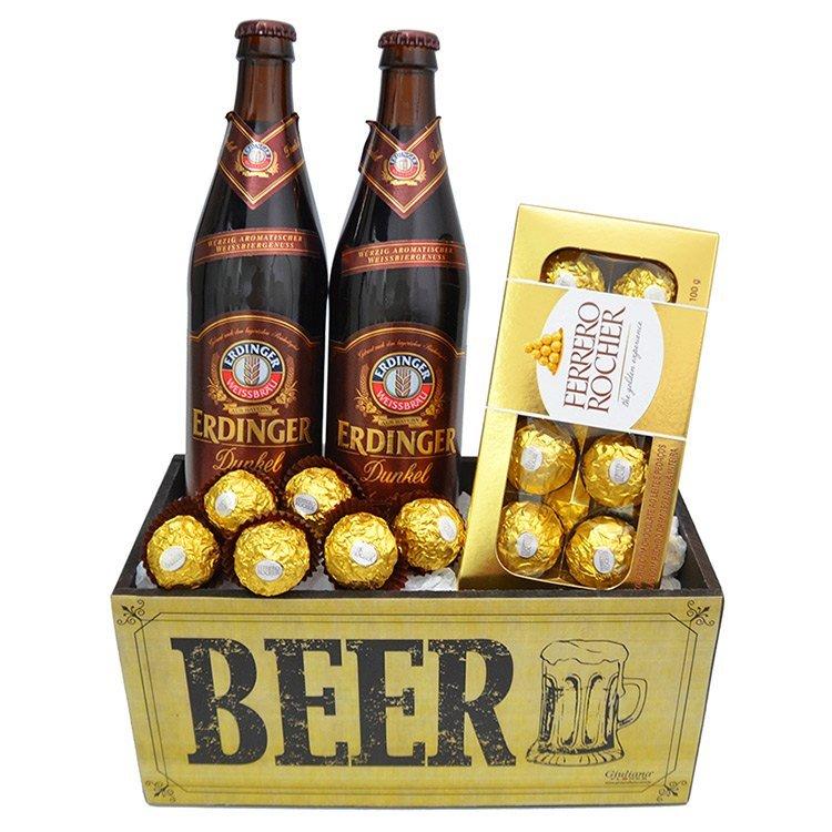 Kit de Cerveja Erdinger Dunkel Doce Harmonia