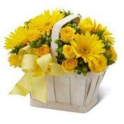 Cesta de Flores Amarelas  Internacional