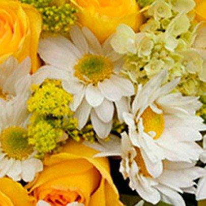 Arranjo Flores e Vida Amarelo