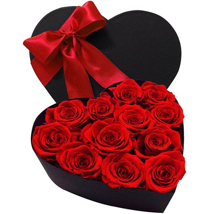 Coração de Rosas Encantadas Vermelha