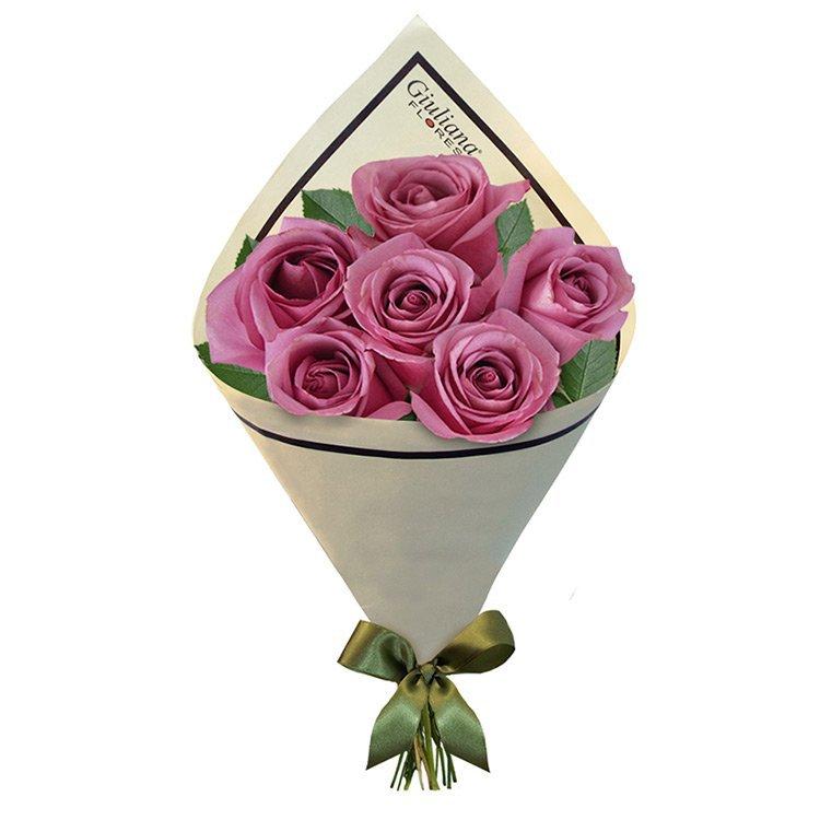 Buquet de 6 Rosas Lilás