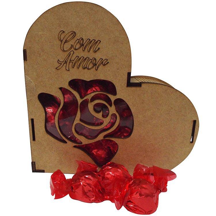 Coração Chocolates com Amor
