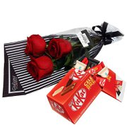 Surpresa de Rosas e Kit Kat