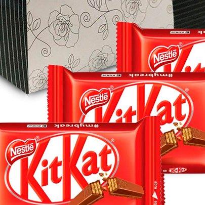 Sensacional de Rosa Vermelha e Kit Kat