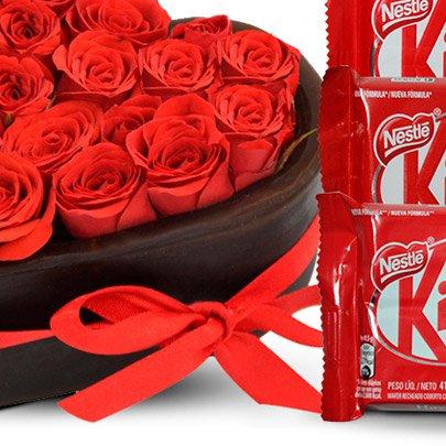 Mini Coração com Kit Kat