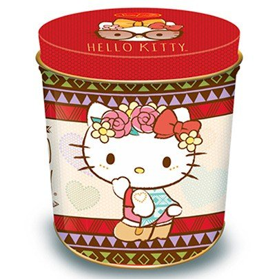 Lata Biscoito Hello Kitty Sabor Leite 200g Tribal
