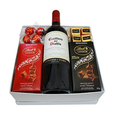 Kit Especial de Vinho e Chocolate