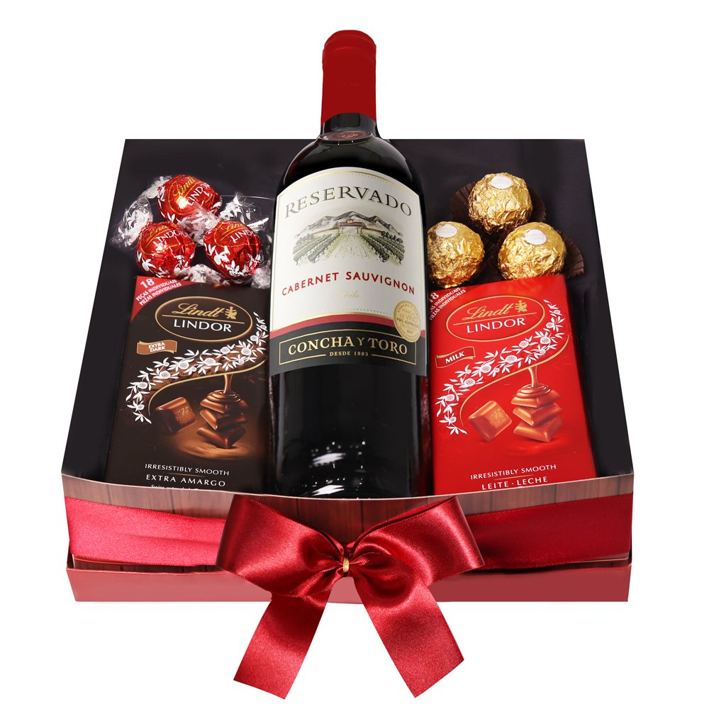 Kit de Vinho e Chocolate Especial
