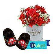 Kit Presente Amor de Mãe Carrinho Vermelho
