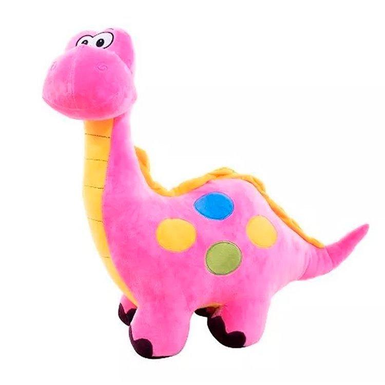Dinossauro de Pelúcia Cor de Rosa