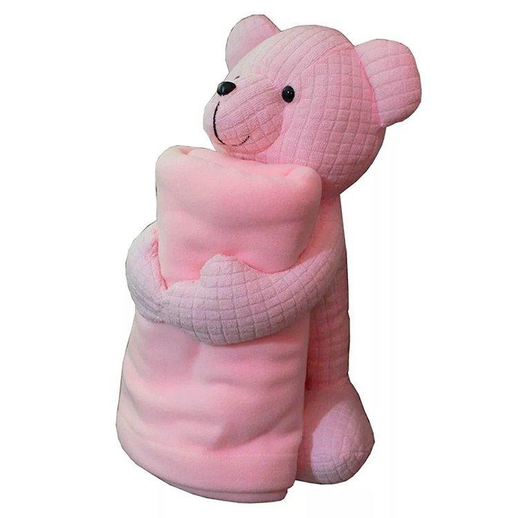 Urso com Manta Rosa