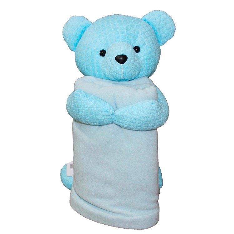 Urso Com Manta Azul