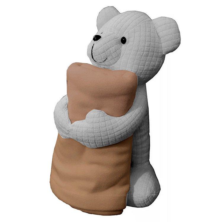 Urso Com Manta Bege