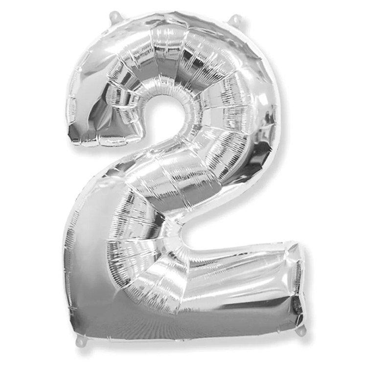 Balão Prata Número 2