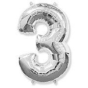 Balão Prata Número 3