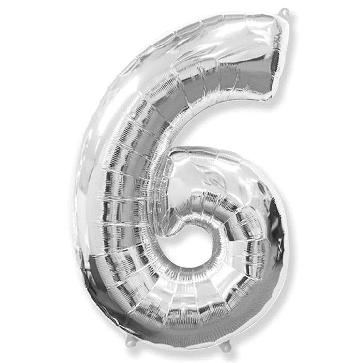 Balão Prata Número 6